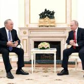 Кремльде Назарбаев пен Путин келіссөз жүргізді