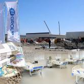 BI Group салып жатқан модульдік ауруханада бір орын 37 млн теңгеге түскелі отыр