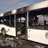 Павлодар облысында 40 жолаушы отырған автобус өртенді