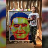«Головкин, Роналду, Илон Маск»: алматылық оқушы Рубик кубигінен ерекше портреттер жасайды