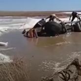 Ақмола облысында суға аударылған жүк көлігінің жүргізушісі қаза тапты