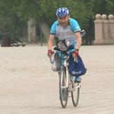 Қызылжарлық қария Алматыға велосипедпен аттанды