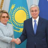Тоқаев Ресей Федерация кеңесінің төрағасын қабылдады