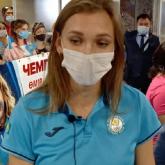 Семей әуежайында Ольга Рыпакованы жанкүйерлері қарсы алды