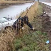 Павлодар облысының тасжолында көлік жырадағы суға түсіп кетті