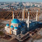 Орталық Азиядағы ең үлкен мешіттің құрылысы аяқталуға жақын