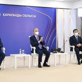 Президент Қарағанды облысындағы полиметалл кен байыту фабрикасын іске қосты
