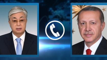 Тоқаев Түркия президентімен телефон арқылы сөйлесті