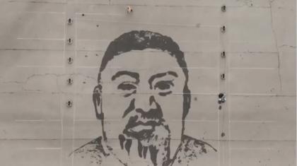 Алматылық суретші Абайдың портретін су мен борды пайдаланып салып шықты