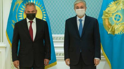 Тоқаев Ресей қорғаныс министрі Сергей Шойгуді қабылдады