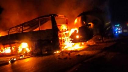 Египетте автобус пен жанармай таситын көлік соқтығысып, 20 адам қаза тапты