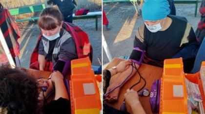 Бестамақта аштық жариялаған тұрғындарға көмек беру үшін медицина қызметкерлері келді