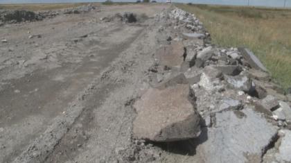 Қостанай облысында төселген асфальт төрт айдың ішінде үгітіліп қалған