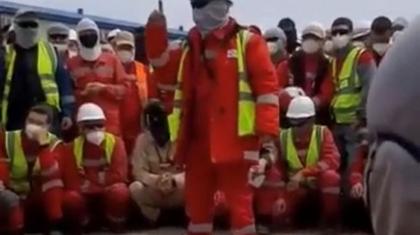 Теңізде «ҚазҚұрылысСервис» жұмысшылары ереуілге шықты