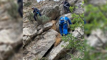 Түркістан облысында екі жасөспірім тау басына шығып, өздігімен түсе алмай қалды