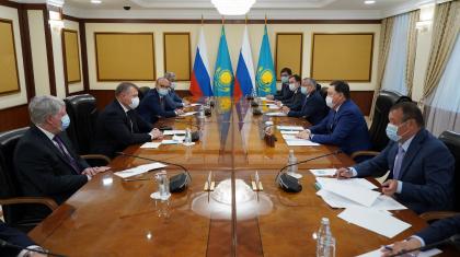 Асқар Мамин Астрахан облысының делегациясын қабылдады