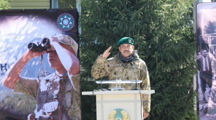 ҰҚК төрағасы Кәрім Мәсімов қазақстандық шекарашыларды құттықтады