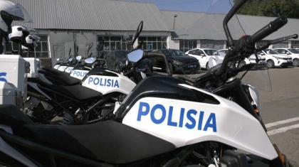Алматы полицейлері жаңа мотокөлік алды