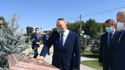 Назарбаев Жамбыл облысындағы әлеуметтік-мәдени нысандарға барды