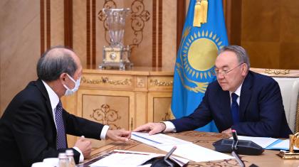 Елбасы «Назарбаев Университетінің» президенті Шигео Катсуды қабылдады