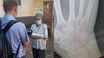 Алматыда 30 жастағы жігіт жатақханаға кіргізбеген кейуананы тепкілеп тастады